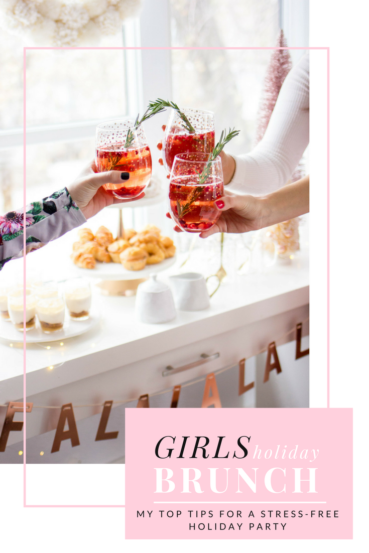 'Tis the season for sparkle, cocktails, and all the holiday parties! I'm sharing my top tips on how to throw the ultimate girls holiday brunch, stress-free.